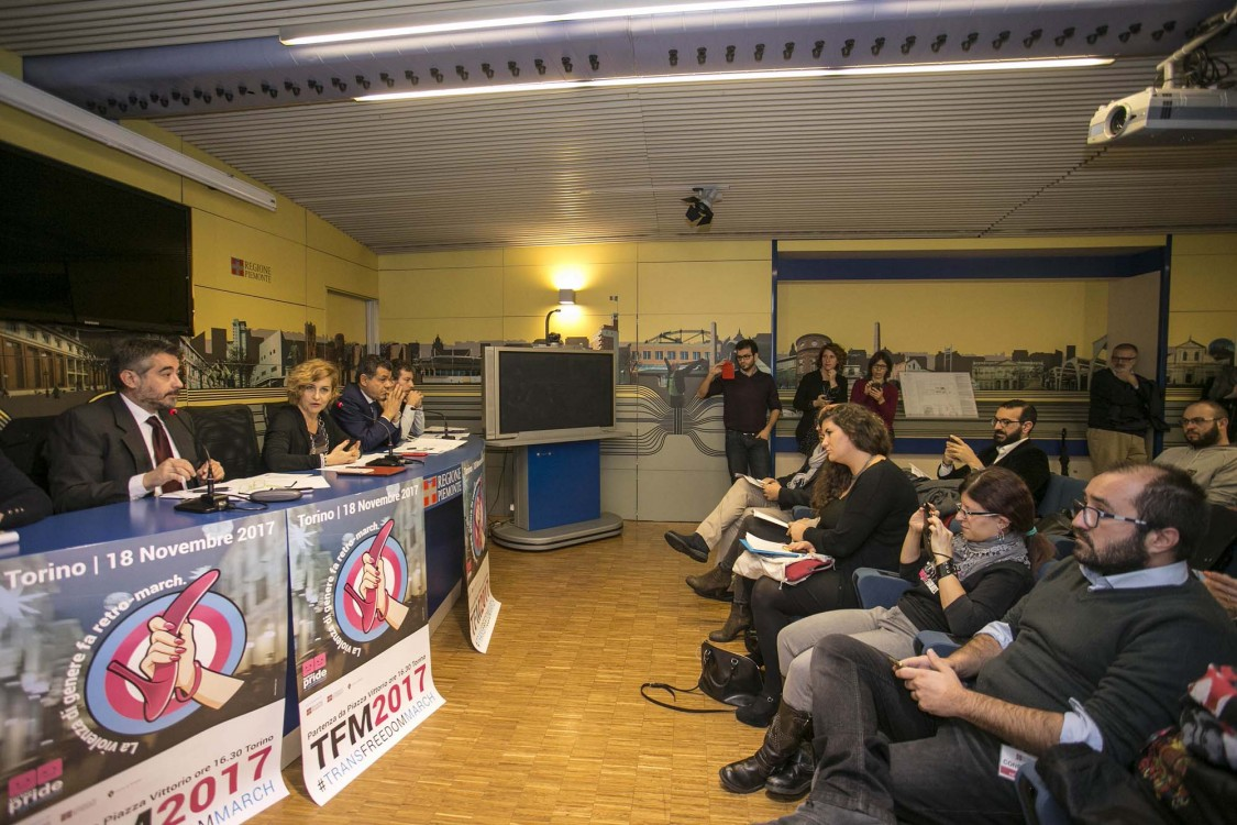 09/11/2017 Conferenza stampa di presentazione della Trans freedom march  Interviene l'Assessora Monica Cerutti